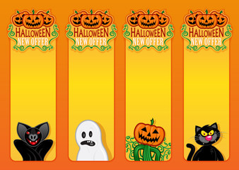 Halloween New Offer, vertical labels