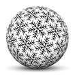 Kugel, Eiskristalle, Textur, Deko, Winter, Schneekugel, abstrakt