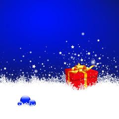 Hintergrund, weihnachtlich, Weihnachten, Winter, Blau, Schnee