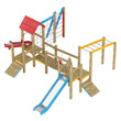Playground apparatus with slides