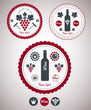 Collection of Premium Quality Wine Labels with retro vintage sty