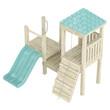 Wooden playground structure