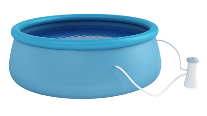 Childs plastic swimming pool