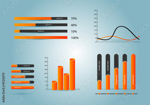 Infographics elements.Diagrams