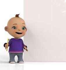 Niño Con Cepillo