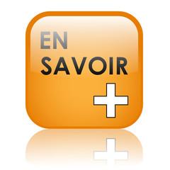 """Bouton Web """"EN SAVOIR +"""" (à propos plus informations découvrir)"""
