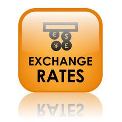 """EXCHANGE RATES"" Button (money currency euro dollar yen pound)"