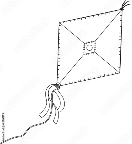 A kite isolated on the white background. - 45208179