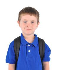Happy School Boy with Bookbag