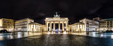 Brandenburger Tor Berlin bei Nacht Panorama