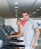 Men Running On Treadmill