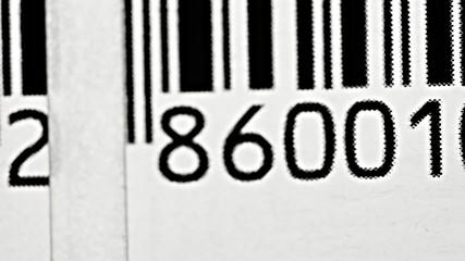 Bar code close-up