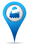 blue train location icon for maps