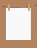 paper and clothespins mockup for put your designs poster