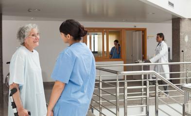 Conversation between patient and nurse
