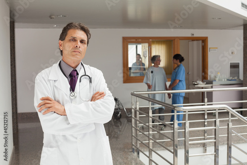 Doctor standing in the hallway of a hospital