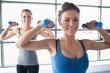 Women lifting weights