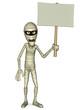 mummy holding blank