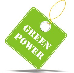 étiquette green power