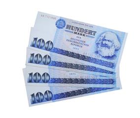 Geldfächer DDR Geldscheine, 100 Mark
