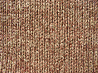 Texture of brown knitted linen