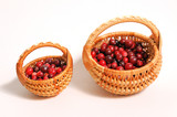 two punnets with cranberries