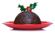 Christmas pudding isolated
