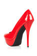 Red women shoes.