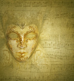 Card golden mask