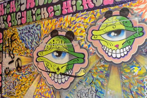 Fototapeten,auge,wand,graffiti,kunst