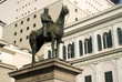 Постер, плакат: Equestrian statue dedicated to Giuseppe Garibaldi in Genoa