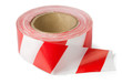 Roll of red white barrier tape