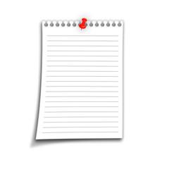Notizzettel liniert
