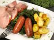 Grünkohl mit Rauchfleisch und Kartoffeln