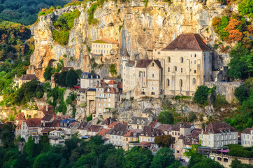 Rocamadour village detail view, France
