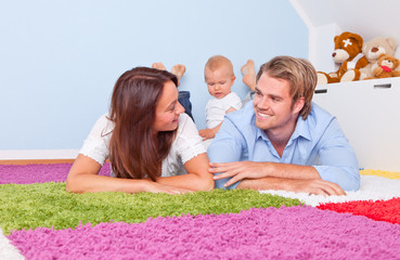 family time couple with baby