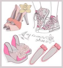 Модные туфли установить