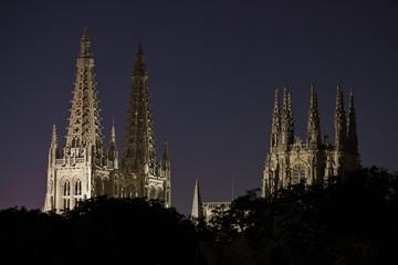 Catedral de Burgos al anochecer