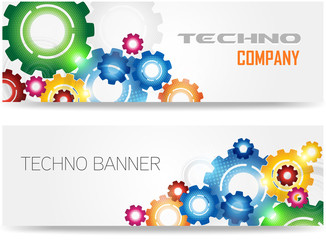Technology Colorful Gears Banner