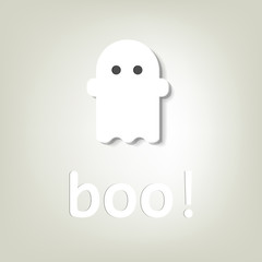 creative poster for Halloween. little ghost