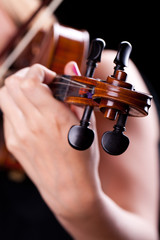 Woman playing on a violin