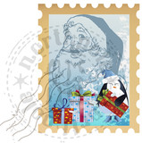 holiday postage stamp clip art poster