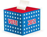 illustrated image of a ballot box poster
