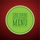 Fine dining restaurant menu label poster