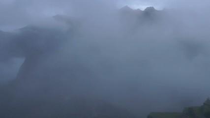 Machu Picchu with clouds, Cusco, peru, Southamerica