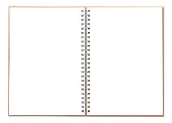 Ringbuch isoliert auf weiß mit Textfreiraum