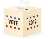 vector image of a 2012 ballot box