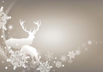 Winterzeit - Hirsch und Reh