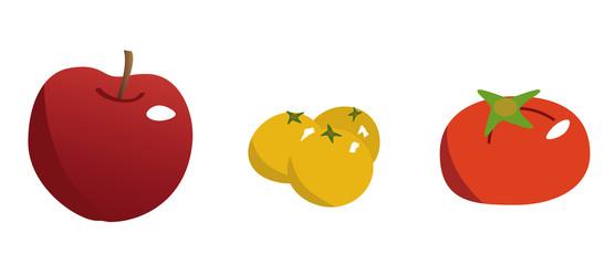 リンゴ、柚子、柿