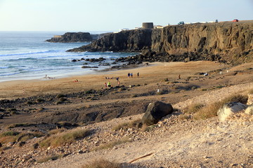 El Cotillo beach Fuerteventura Canary islands Spain